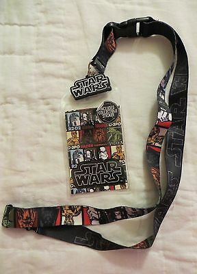 Star Wars Multi Character Lanyard Badge / Ticket Holder New