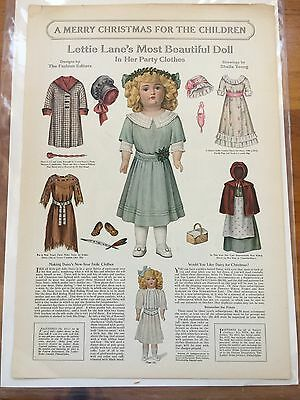 Lettie Lane's Most Beautiful Doll in Her Party Clothes Ladies Home Journal