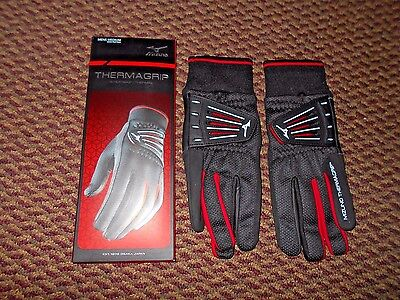 Pair of New Mizuno Thermagrip Winter Golf Gloves Mens Medium with Free Shipping