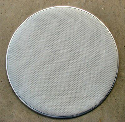 "8"" White 3-Ply Mesh Drum Head Electronic Vdrum Heavy Duty Feel Like Traditional"