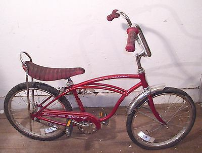 SCHWINN STING RAY JUNIOR ORIGINAL MUSCLE BICYCLE 1970s ESTATE FIND RED! SHARP!