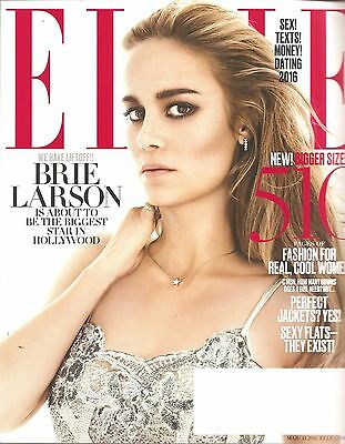 Elle March 2016 Brie Larson About to be biggest in Hollywood~510 pgs of Fashion