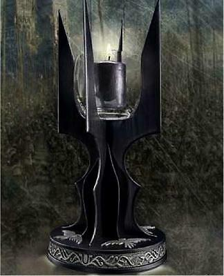 Tolkien ~ Saruman Staff Candle Lamp ~ Lord Of The Rings ~ Die Cast Metal & Glass