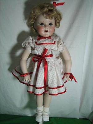 """Virginia Ehrlich Turner """"shirley Temple"""" All Porcelain Doll Stand Up And Cheer"""
