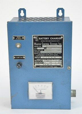 Master Control Systems Continuous Battery Charger MBC 19-24V-5A-LA Generator