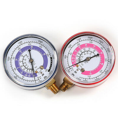 Refrigeration Air Conditioning R410a Replacemen Pressure Gauge PSI KPA