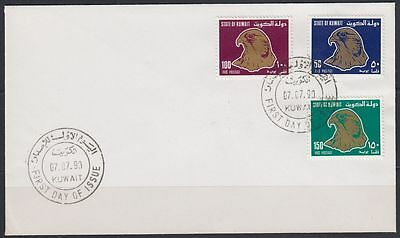 1990 Kuwait FDC Mi.1230/32 Definitives Birds Falcon Vögel Falke [bl0067]
