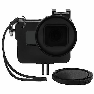 Camera Housing Protective Shell Cage Case + 52mm UV Lens Filter For Gopro Hero 5