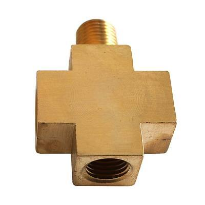"""4-Way Brass Compressor Fitting -1/4"""" MPT(1) x 1/4"""" FPT(2) x 1/8"""" FPT(1)- CPX44-2"""