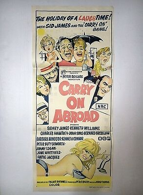 CARRY ON ABROAD DAYBILL AUSTRALIAN MOVIE POSTER FROM 1960's