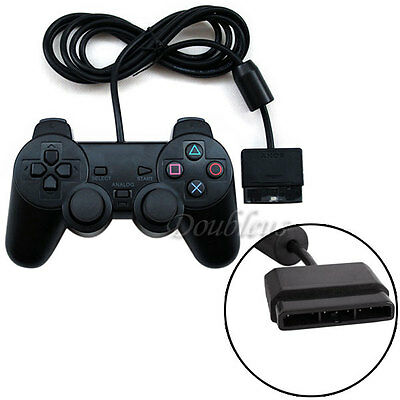 2 x Dual Shock Gamepad Joystick Wired Game for Sony Playstation 2 PS2 Controller