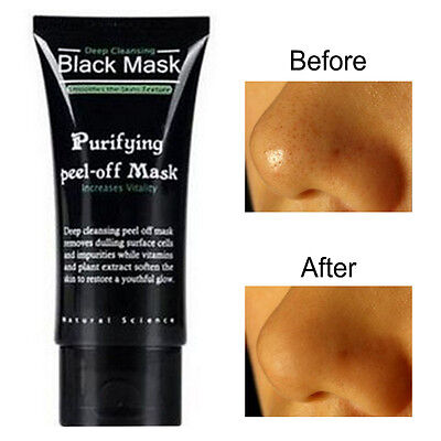 ~Black Deep Cleansing Purifying Blackhead Pore Removal Peel-off Facial Mask~New#