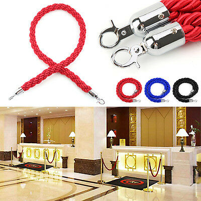 High Quality 1.5m Twisted Queue Barrier Rope Red Black Blue For Posts Stands UK
