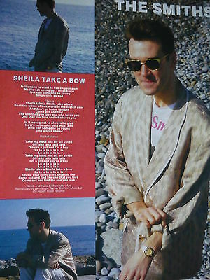 The Smiths - Magazine Cutting (Full Page Photo W/songwords) (Ref Xb)