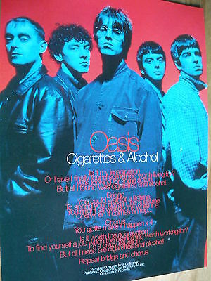 Oasis - Magazine Cutting (Full Page Photo W/songwords) (Ref K1)