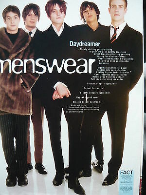 Menswear - Magazine Cutting (Full Page Photo W/songwords) (Ref Jd1)