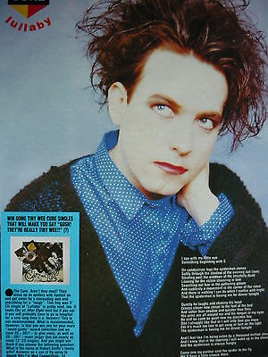 The Cure - Magazine Cutting (Full Page Photo W/songwords) (Ref Xc)