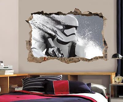 Stormtrooper Star Wars Smashed Wall Decal Graphic Wall Sticker Art Mural H802