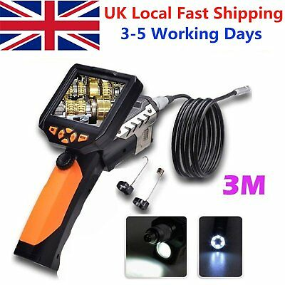 "3.5"" LCD Monitor 6LED USB Endoscope Borescope Inspection Video Camera Waterproof"