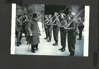 Nostalgia Postcard Winston Churchill Inspects House of Commons Home Guards 1942
