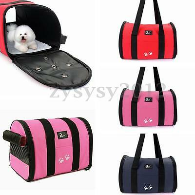 UK Folding Pet Dog Cat Puppy Portable Travel Carrier Tote Cage Bag Outdoor Cover