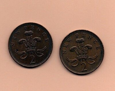 Rare 1980/1981 New Pence 2P Coins