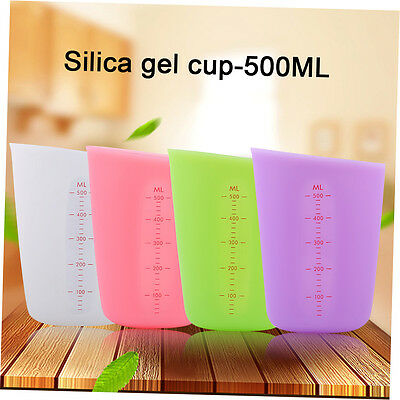 500MAH Kitchen Measuring Cups Household Use Silicone Measuring Cups Set XRAU