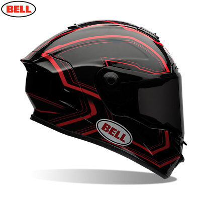 Bell Street 2017 STAR Full Face Motorcycle Helmet Pace Black/Red  - SR