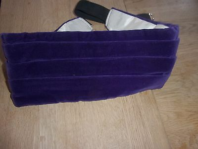 Mens Beautiful Purple Velvet adjustable Pleated Vintage AKCO Cummerbund - L