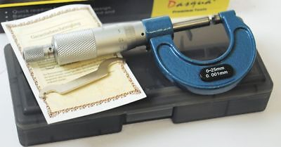 Dasqua 0-25 mm x 0.001 mm Outside Micrometer  (Ref: 41119105) Lifetime Guarantee