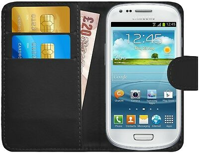 G-Shield® Luxury Leather Flip Wallet Slim Case Cover For Samsung Galaxy S3 Mini