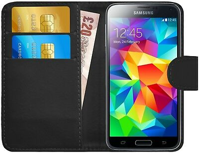G-Shield® Luxury Leather Magnetic Flip Wallet Case Cover For Samsung Galaxy S5