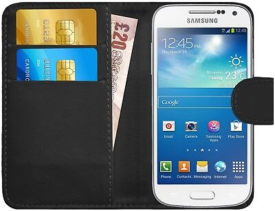 G-Shield® Luxury Leather Flip Wallet Slim Case Cover For Samsung Galaxy S4 Mini