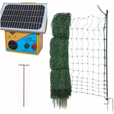 Electric Poultry Netting Chicken Kit - 50m - Mesh Fence and Energiser