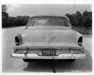 1955 Plymouth Rear End ORIGINAL Factory Photo oad9908