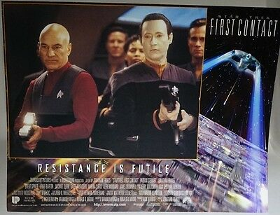 Star Trek First Contact 1996 UK Mini Poster Original Here comes the Cavalry