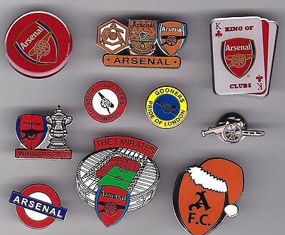 Arsenal collection of 10 football badges
