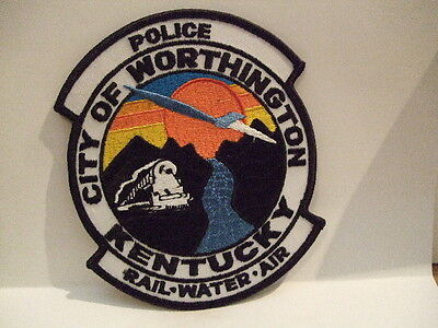 police patch   CITY OF WORTHINGTON POLICE KENTUCKY