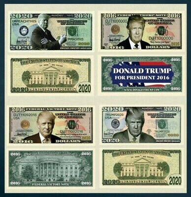 4 Note Set Donald Trump President Million Dollar Novelty Bills