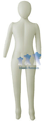 Inflatable Child Mannequin, FULL-SIZE head & arms IVORY