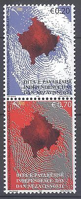 Kosovo 2008 Independence Vertical Pair Mnh Very Fine