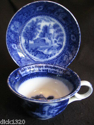 VINTAGE ROWLAND & MARCELLUS RM4R FLOW BLUE Auld Lang Syne FATHER'S DUO c.1900's