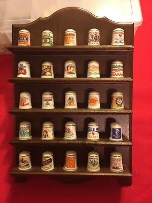 1980's Complete (25) Franklin Porcelain Country Store Thimble Collection