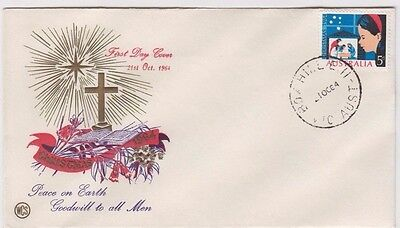 Stamp Australia 5d Christmas on WCS Wesley brand FDC enhanced by Hawker uncommon
