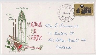 Stamp Australia 4c Christmas on WCS Wesley brand FDC enhanced by Hawker uncommon