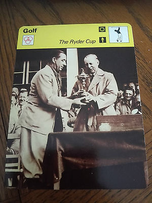 GOLF - The RYDER Cup - Sportscaster Rencontre Photo Fact Card