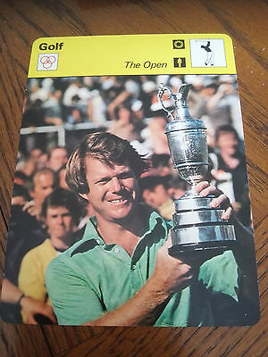 GOLF - Tom WATSON The OPEN - Sportscaster Photo Fact Card