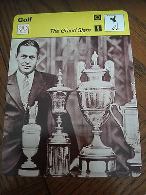 GOLF - The GRAND SLAM - Sportscaster Rencontre Photo Fact Card