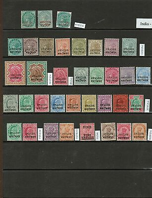 NICE GROUP of INDIA STATE of GWALIOR & FARIDCOT 111 MINT stamps  G613