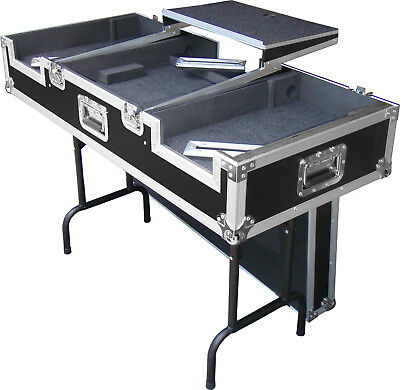 DJ coffin - flightcase / table with laptop tray - suits CDJ2000 DJM2000 DJM900